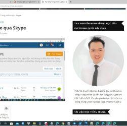 Học tiếng Trung online qua Skype Thầy Vũ - Khóa học tiếng Trung online qua Skype ChineMaster - Lớp học tiếng Trung qua Skype tốt nhất